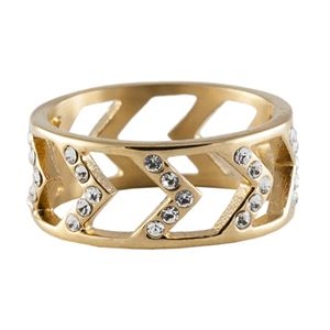 Picture of Gold Chevron Ring - Size 7